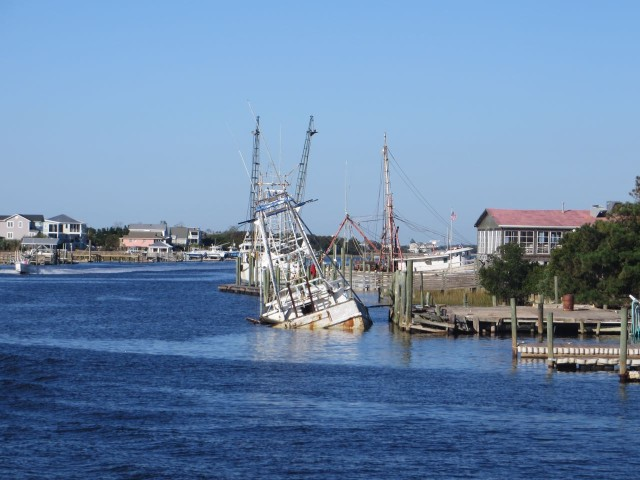 Looks like this shrimper has seen better days.