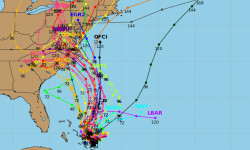 Back on September 29th, six days ago, this is what we were constantly studying and worrying about - the spaghetti models for Joaquin.