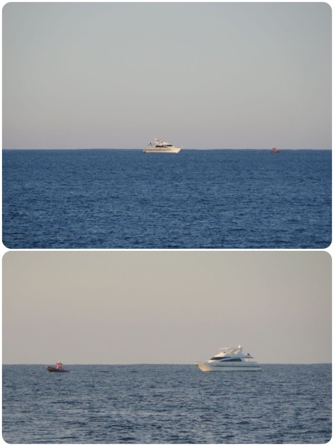 This is a 92-foot yacht being towed by Boat US, that tiny little red boat. We watched and listened to it on the VHF for a few hours late in the afternoon until it passed behind us to go in for a necessary engine repair. Even fancy boats have problems- Bigger boat = bigger problems??