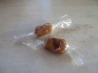 "Cori's homemade (""boatmaade""?) caramels"