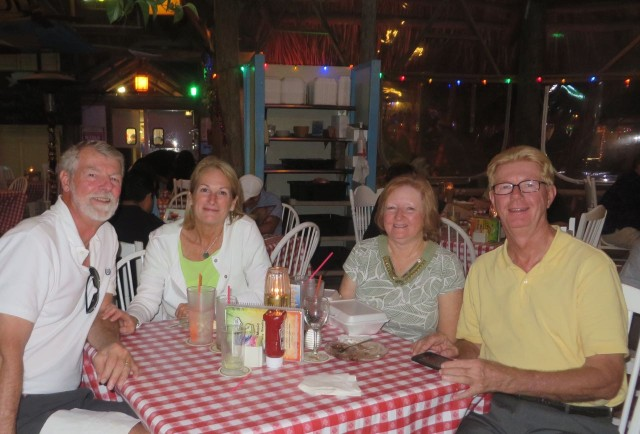 WE took full advantage of having a car for a few days and drove to Jensen Beach to have dinner with Al's brother, Bill and his wife, Barbara, at Conchy Joe's. Yup - more feasting!