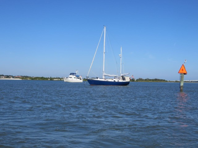 Kindred Spirit and Hi-Flite anchored in St. Augustine