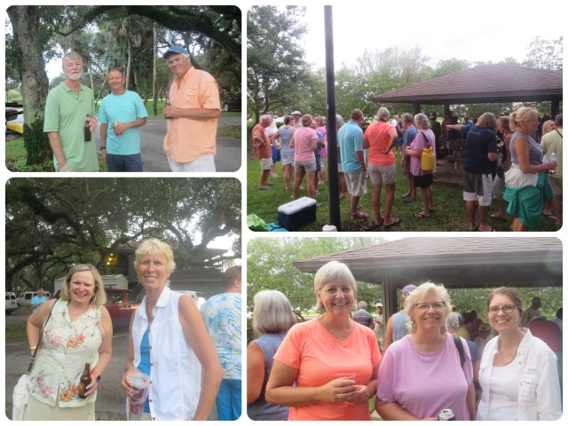 Very Thursday is Cruisers Happy Hour on the marina grounds. Everyone gathers and shares food, drinks, and lots of stories. A great way to meet new people. When the crew of Salty Paws is here, they arrange for the talented people to play music. What a special treat!