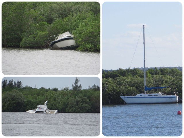 It is surprising to see so many abandoned boats along the sides of the ICW. Surprising and a little sad.