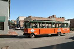 The orange trolley tour.