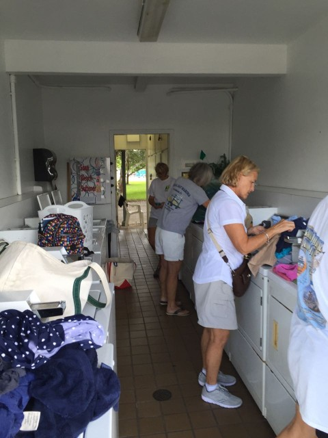 What can I say? Laundry has to be done. Sharing washers and dryers with other desperate cruisers is a real challenge! But is is also a good place to meet other folks.