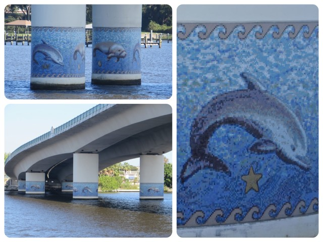 Broadway Bridge in Daytona - the only bridge with real artwork for us boaters to view.