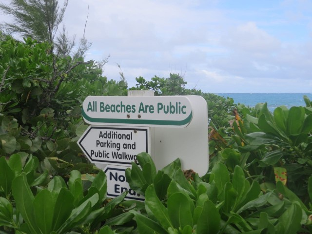 "We appreciated this notice to everyone that the ""beaches are public."" We need to share these beautiful resources, as long as we all treat them with respect."