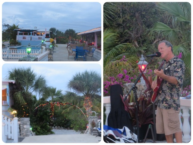 Although we were tired, we revived enough to join Sam and Kayda and a few other cruisers at the Leeward Yacht Club in Black Sound for drinks and music.