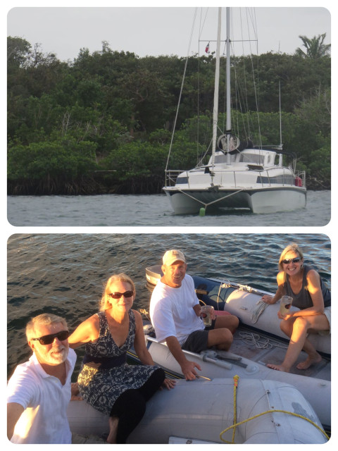 Palm Pilot, a nice sailing cat, and her crew, John and Carol.