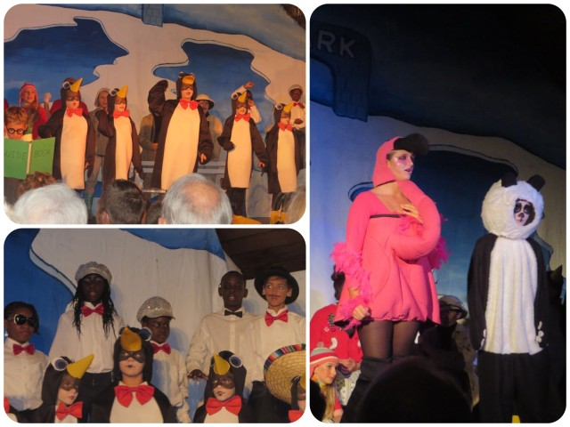 This group of penguins were the hits of the show. And check out the flamingo costumes - pretty creative!