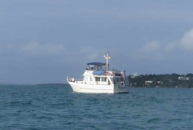 Kindred Spirit, anchored off of Green Turtle Cay