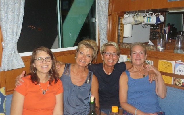 The Admirals: Annette, Carmen, Charlotte, and me