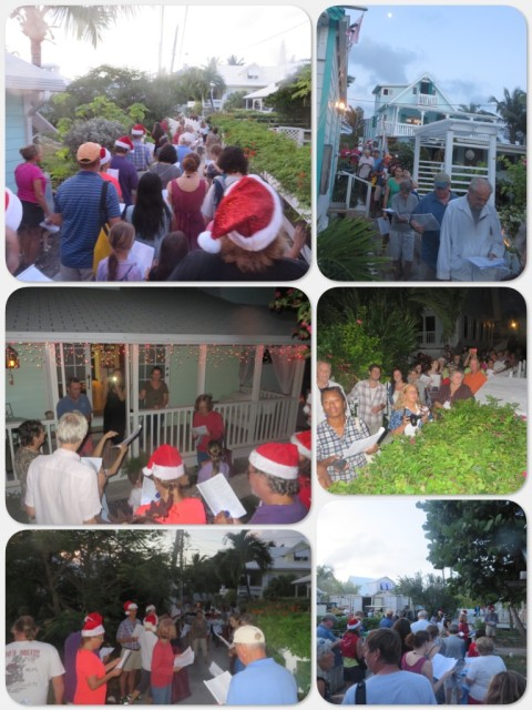 The streets of Hope Town village were filled with caroling voices.
