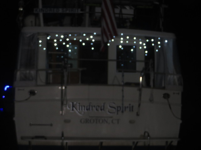 Kindred Spirit had her white light icicles lit up!