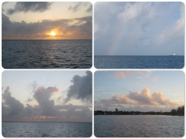 The different faces of the sky, sunset, sunrise, a little rainbow.