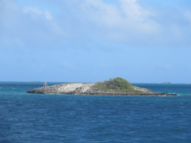 "This little rocky spit of an island is called Point Set Rock, lying off the northeast point of Matt Lowes Cay. It's the crossroads of the ""Hub of Abaco"" because all boats must pass in the vicinity of it."