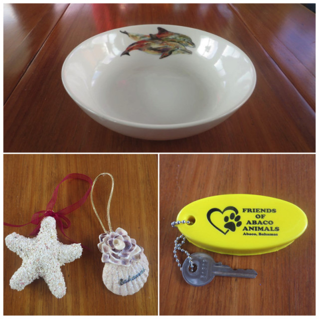 Our purchases at the art show were relatively small compared to the possibilities. I selected a small Kim Rudy bowl with dolphins, two little Christmas ornaments for next year's tree, and a floating key fob for the bike lock.