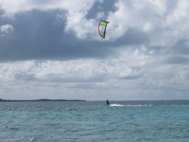 This wind surfer was really cruising all around Johnny's Cay.