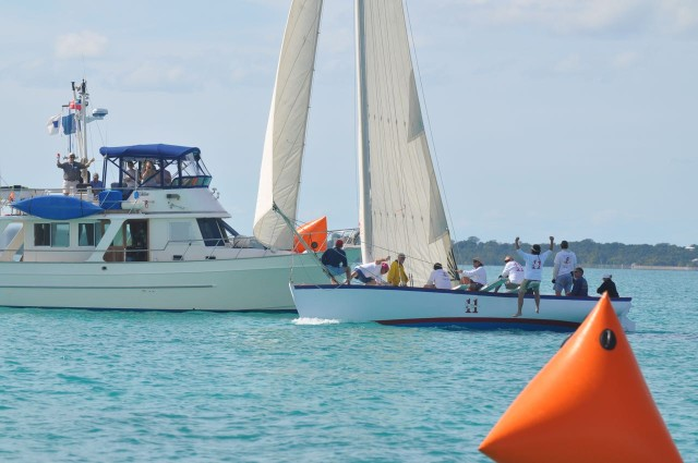 The Abaco Rage is the first to cross the finish line! Very cool.