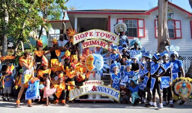 The official Hope Town Junkanoo photo posted on Facebook.