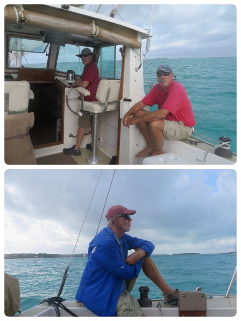 Heading out to the race course, a triangle between the Parrot Cays and Matt Lowe Cay.