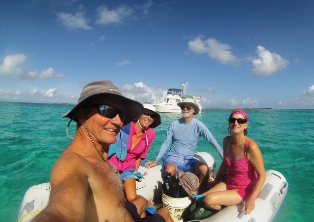 A group selfie after the snorkeling.