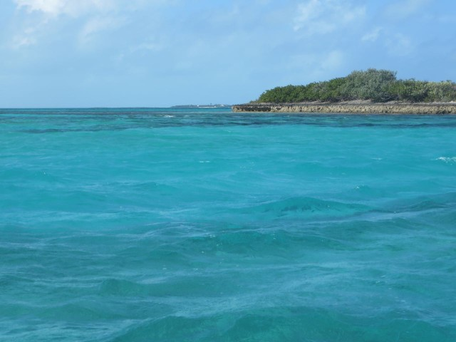 Only a picture can describe the beautiful water. Out near Johnny's Cay.