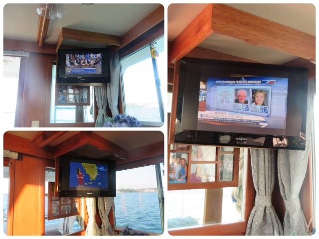Much to our surprise, we had really good tv reception in Marsh Harbour!! First time on the entire trip, since September . We enjoyed the morning news as we had breakfast and coffee, but soon learned that no much has changed.