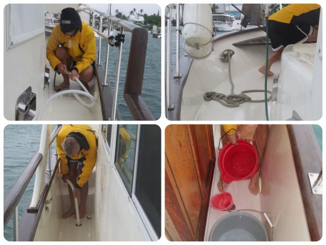 filling water tanks