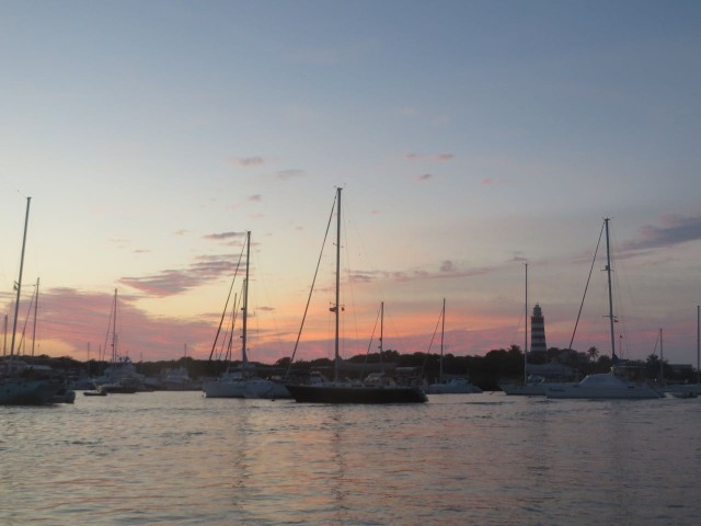 The sun sets on another very fine day in the Abacos.