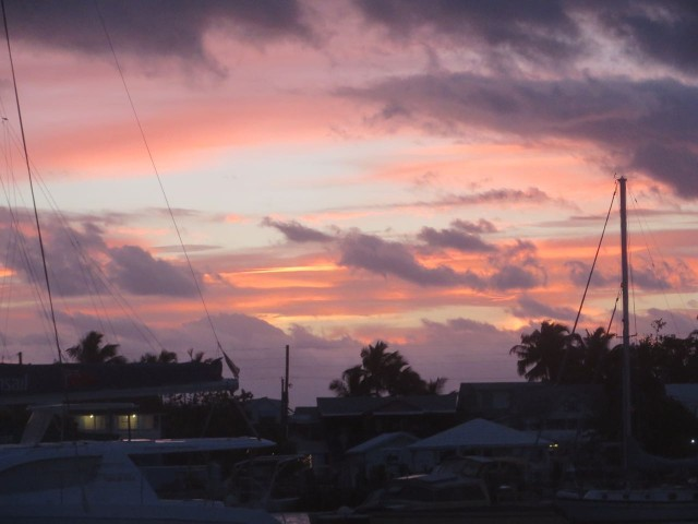 Another glowing sky just before the sun rises over Elbow Cay.