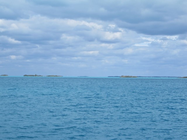 Pretty nice day, a little cloudy and cool as we passed the Fish Cays.