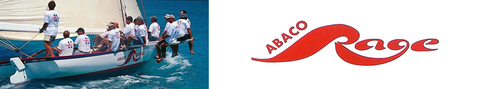 The Abaco Rage's WordPress header - Love the design of the name.