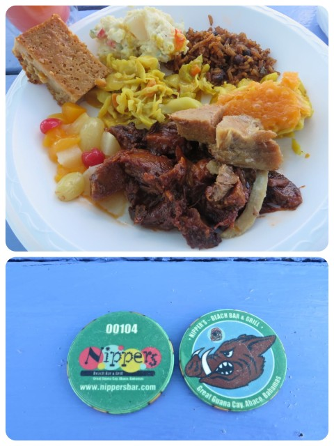 "Our ""Pig Roast "" lunch. You get these cute little tokens for the buffet line."