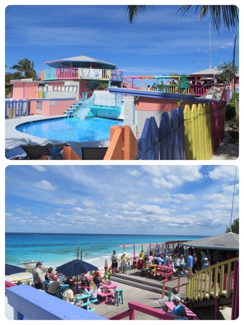 Nippers has pools for cooling off (no need for that on this day) and an outstanding view of the ocean from the upper decks.