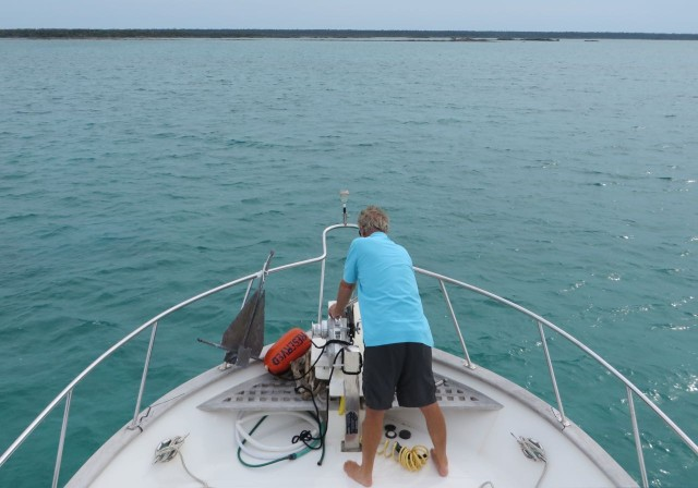 Anchoring at Crab Cay