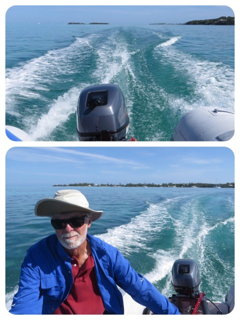 Al and his new dinghy engine