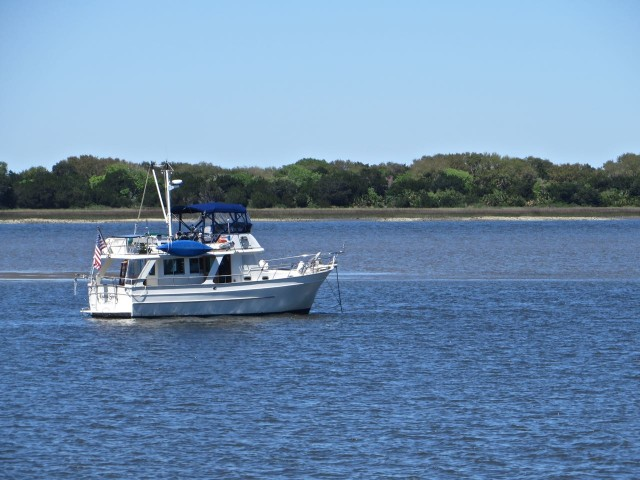 Kindred Spirit at anchor off Cumberland Island