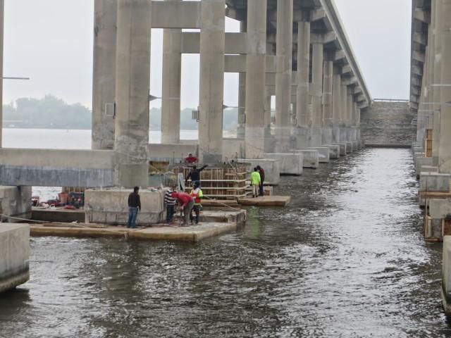 Bridge maintenance.