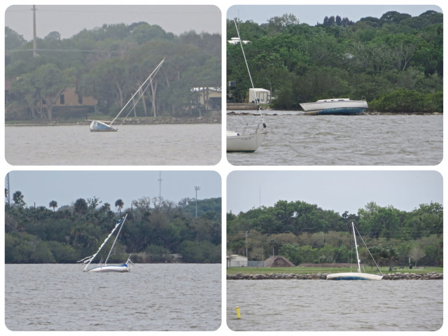 More abandoned boats along the edges of the ICW. :-(