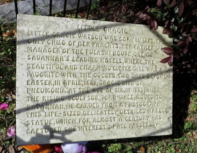 Gracie Watson plaque