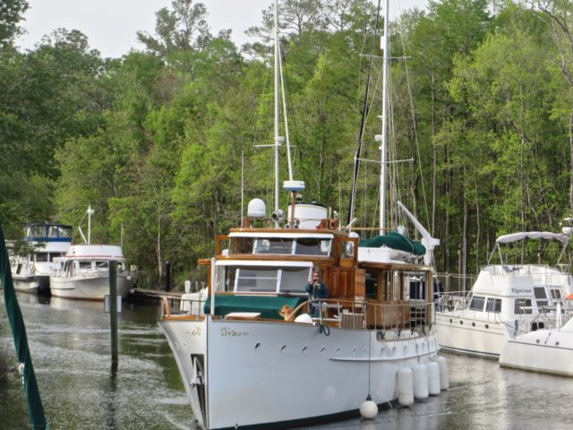 The S.S. Sophie arrives at Osprey Marina