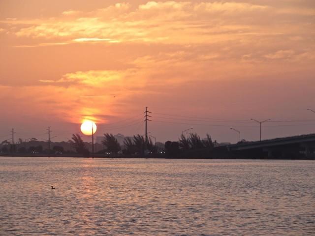 A beautiful sunrise in the east.