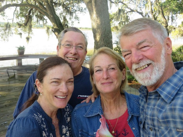 A group selfie of Lynn and Alfred and Michele and Alan.
