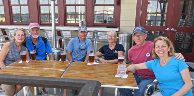 After ice cream, we had beers at Eastport Yacht Club. Beer and ice cream - what could be better?