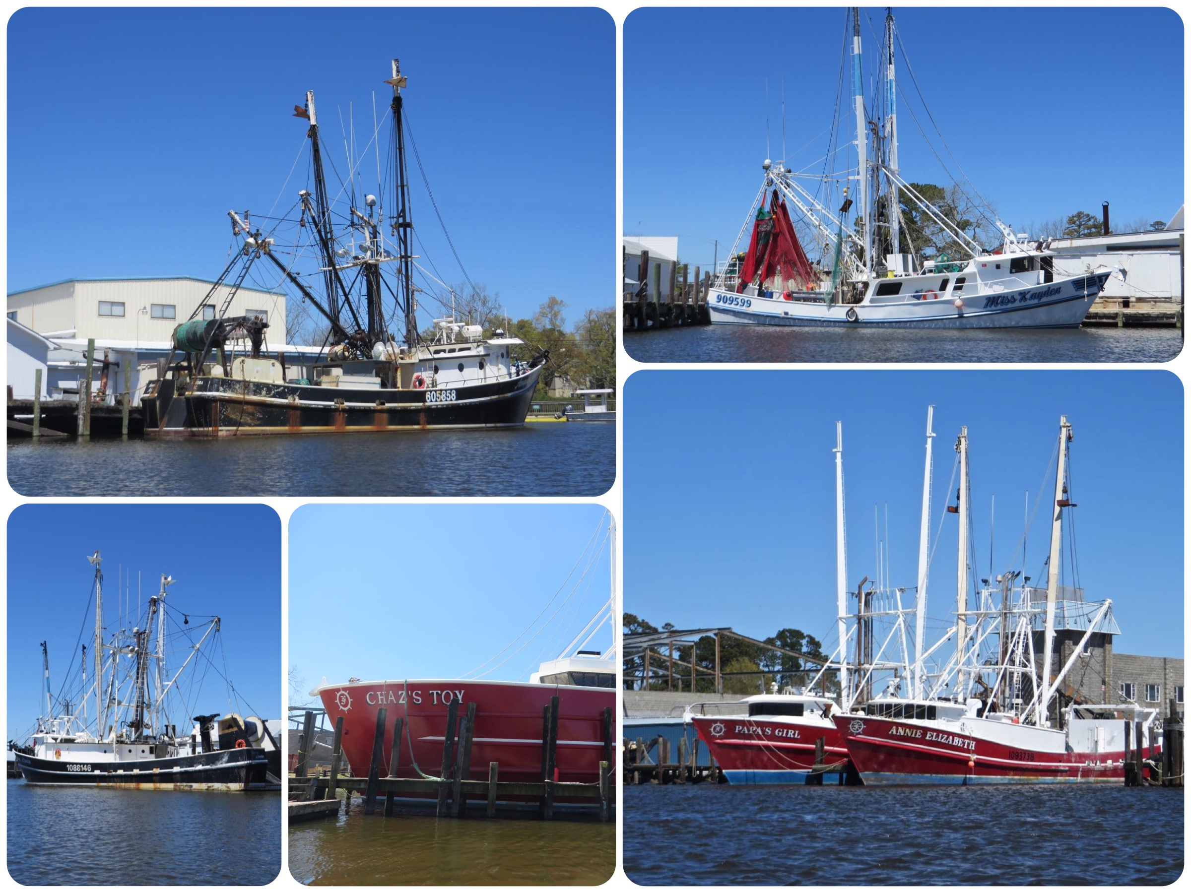 For a small town and harbor, there are a lot of fishing trawlers here.