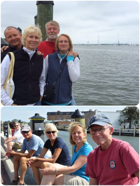 Hanging out with friends. The temperature dropped from 80s (bottom pic) to high 50s the next day (top pic). Wow, that was short summer!