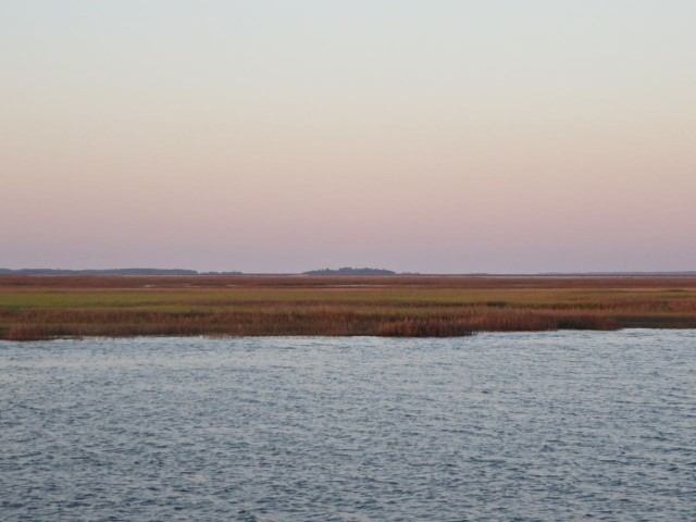Marshes along the ICW in the morning.