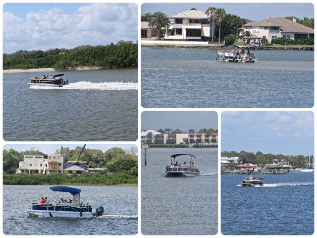 Pontoon boats were everywhere. They seem to be the boat of choice on the ICW.